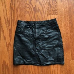 Urban Outfitters leather mini skirt.